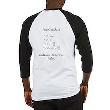 God Said Maxwell's Equations Baseball Jersey