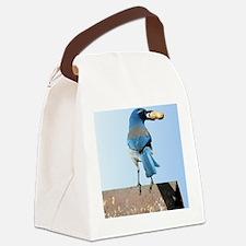 Cute Bluebird with Peanut Canvas Lunch Bag
