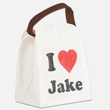 i_love_jake copy Canvas Lunch Bag