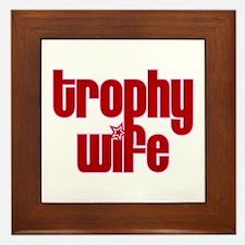 Trophy Wife Framed Tile