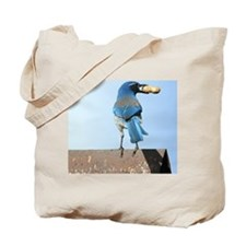 Cute Blue Jay with Peanut Tote Bag