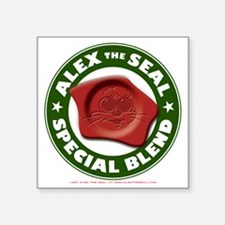 "Alex the Seal Special Blend Square Sticker 3"" x 3"""