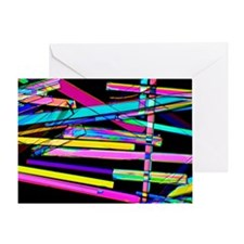Zeolite crystals, light micrograph Greeting Card