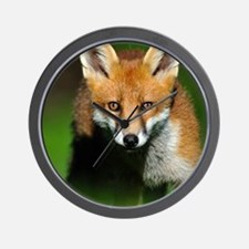 Young red fox Wall Clock