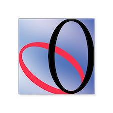 """Zero - concept and symbol Square Sticker 3"""" x 3"""""""