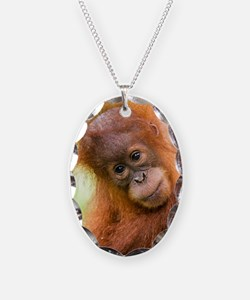 Young Sumatran orangutan Necklace