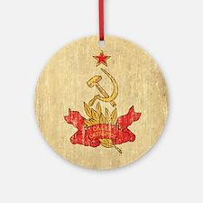 Vintage Soviet Round Ornament