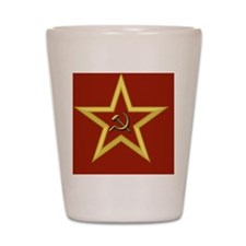 Red Star Shot Glass