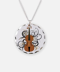 Violin Swirls Necklace