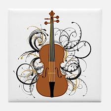 Violin Swirls Tile Coaster