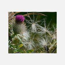 Woolly Thistle (Cirsium eriophorum) Throw Blanket