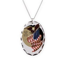 VOTE EAGLE AND FLAG Necklace