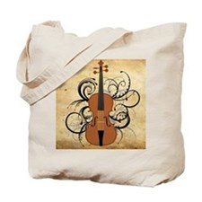 Violin Swirls Tote Bag