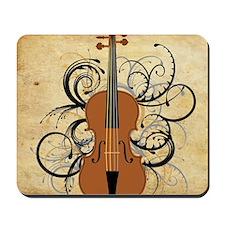 Violin Swirls Mousepad