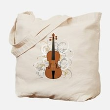 Violin Swirls (for dark colours) Tote Bag