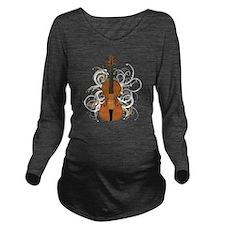 Violin Swirls (for d Long Sleeve Maternity T-Shirt