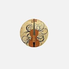 Violin Swirls Mini Button