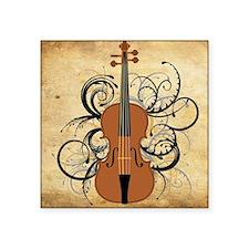 "Violin Swirls Square Sticker 3"" x 3"""