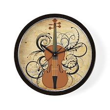 Violin Swirls Wall Clock