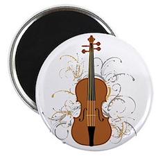 Violin Swirls (for dark colours) Magnet