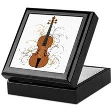 Violin Swirls (for dark colours) Keepsake Box