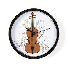Violin Swirls (for dark colours) Wall Clock