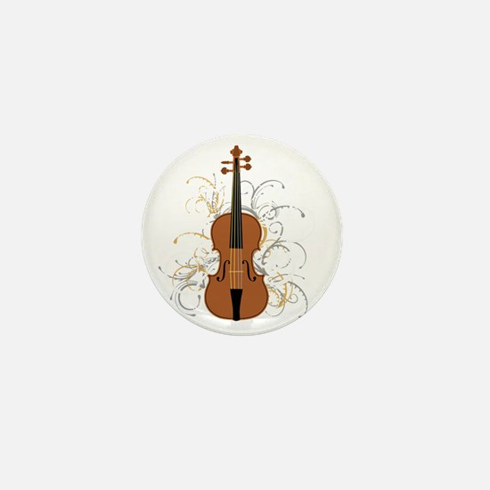 Violin Swirls (for dark colours) Mini Button