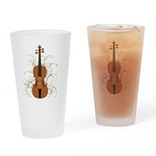Violin Swirls (for dark colours) Drinking Glass