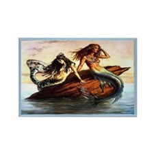 """Mermaids"" Rectangle Magnet"
