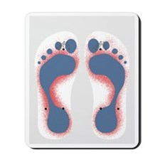 Foot Print to Cuba Mousepad