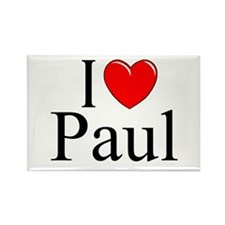 """I Love (Heart) Paul"" Rectangle Magnet"