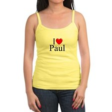 """I Love (Heart) Paul"" Jr.Spaghetti Strap"