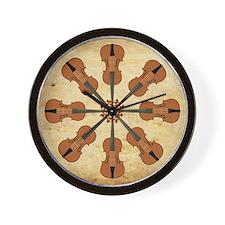 Circle of Violins (square) Wall Clock