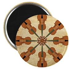 Circle of Violins (square) Magnet