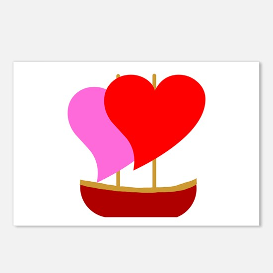 Sail Boat Love Postcards (Package of 8)