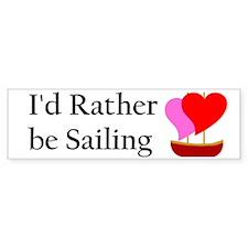 Sail Boat Love Bumper Bumper Sticker
