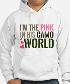 Im the Pink in his Camo World Hoodie