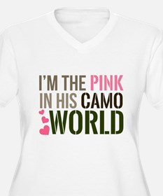 Im the Pink in his Camo World Plus Size T-Shirt