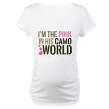 Im the Pink in his Camo World Shirt
