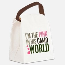 Im the Pink in his Camo World Canvas Lunch Bag