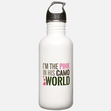 Im the Pink in his Camo World Water Bottle