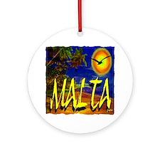malta illustration artwork Round Ornament