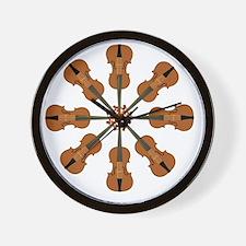 Circle of Violins Wall Clock
