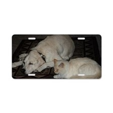Dogs and cats Aluminum License Plate