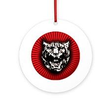 Vintage style Jaguar head emblem Round Ornament