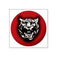 """Vintage style Jaguar head e Square Sticker 3"""" x 3"""""""