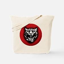 Vintage style Jaguar head emblem Tote Bag