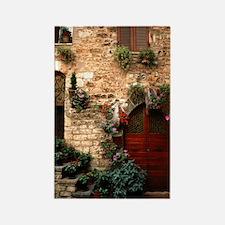 Italian Doorway Rectangle Magnet