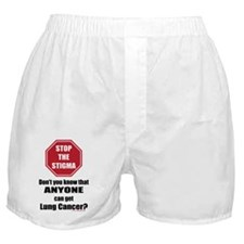 STOP the Stigma! Anyone can get Lung  Boxer Shorts