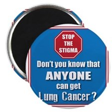 STOP the Stigma! Anyone can get Lung Cancer Magnet